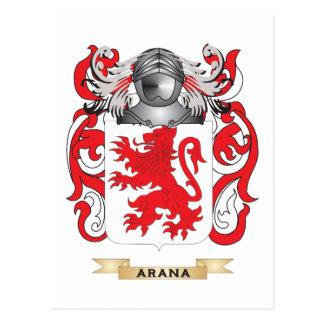 Arana Coat of Arms (Family Crest) Postcard
