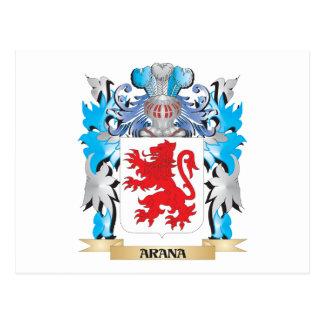 Arana Coat Of Arms Postcard