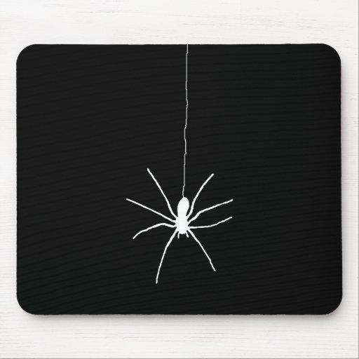 Araña colgante blanca mouse pad