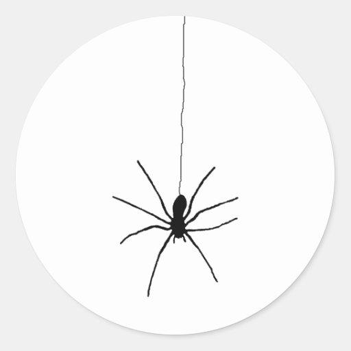 Araña colgante pegatina redonda