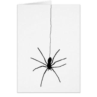 Araña colgante tarjeta de felicitación