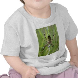 Araña con la presa camisetas
