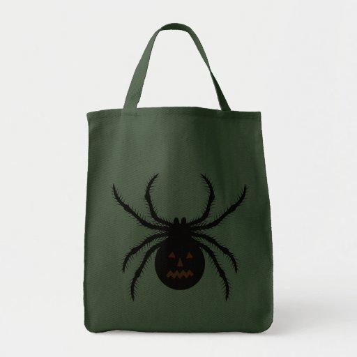 Araña de Halloween Bolsa Lienzo