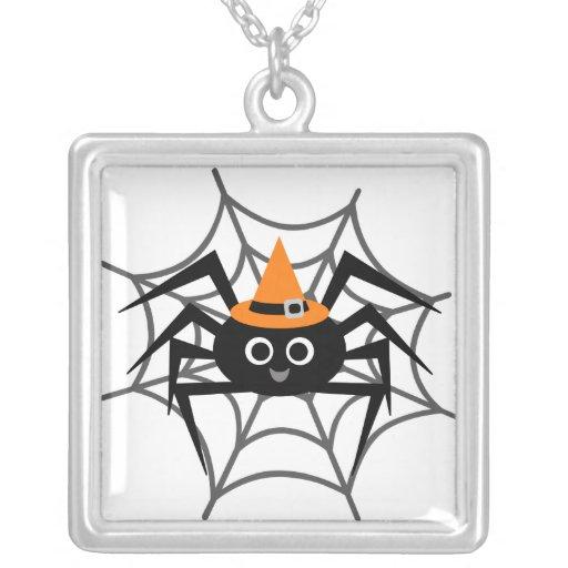 Araña de Halloween en camisetas y regalos del Web Colgante Cuadrado