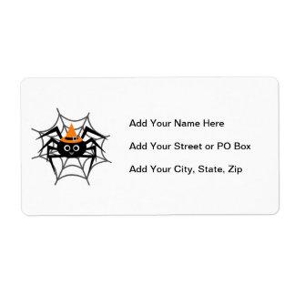 Araña de Halloween en camisetas y regalos del Web Etiquetas De Envío