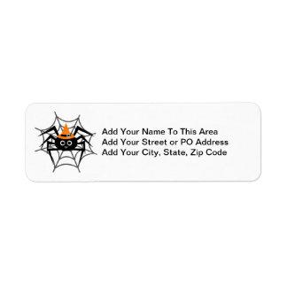 Araña de Halloween en camisetas y regalos del Web Etiqueta De Remitente