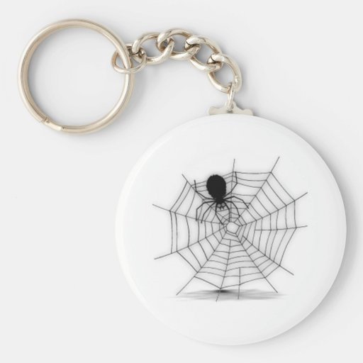Araña de Halloween en el Web Llavero Redondo Tipo Pin