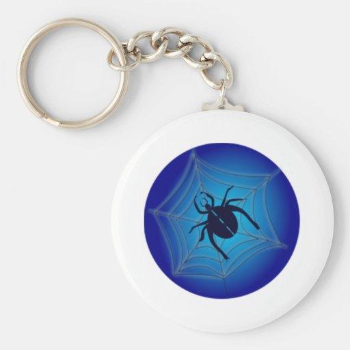Araña de Halloween en el Web Llaveros