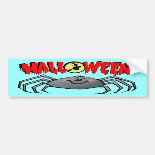 Araña de Halloween Etiqueta De Parachoque