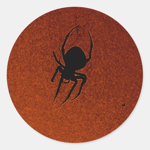 Araña de Halloween Etiqueta Redonda