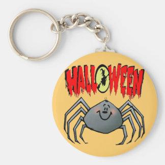 Araña de Halloween Llavero Redondo Tipo Pin