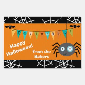 Araña de Halloween personalizada Señales