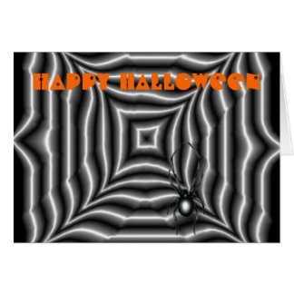 Araña de Halloween Tarjetón