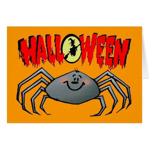Araña de Halloween Tarjeta De Felicitación