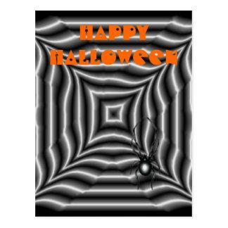 Araña de Halloween Postal