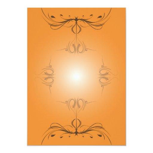 Araña de la calabaza invitación 12,7 x 17,8 cm