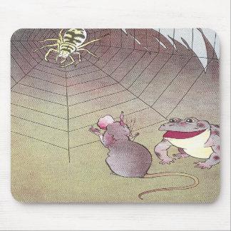 Araña de la reunión del Tittle-Ratón y del sapo de Tapete De Ratón
