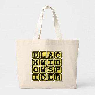 Araña de la viuda negra, arácnido mortal bolsa lienzo