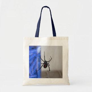 Araña de la viuda negra bolsas lienzo