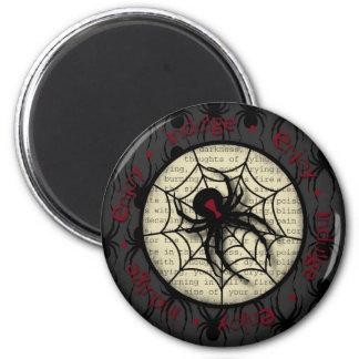Araña de la viuda negra del abucheo y texto espelu imanes para frigoríficos