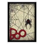 Araña de la viuda negra del abucheo y texto espelu invitacion personal