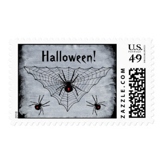 Araña de la viuda negra en Web Estampillas