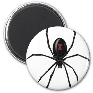 Araña de la viuda negra imán redondo 5 cm