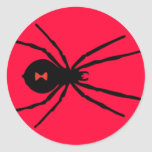 Araña de la viuda negra pegatina redonda