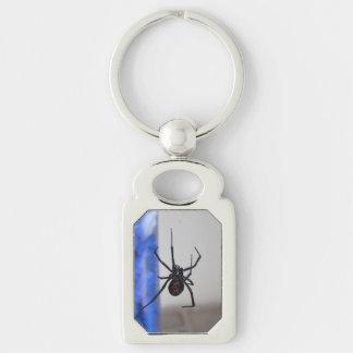 Araña de la viuda negra llaveros