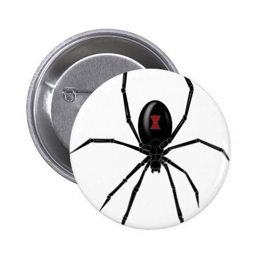Araña de la viuda negra pin redondo 5 cm