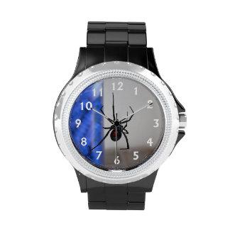 Araña de la viuda negra relojes de mano