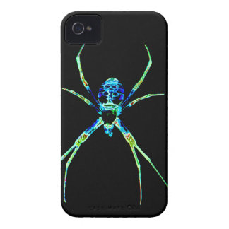 Araña de neón iPhone 4 fundas