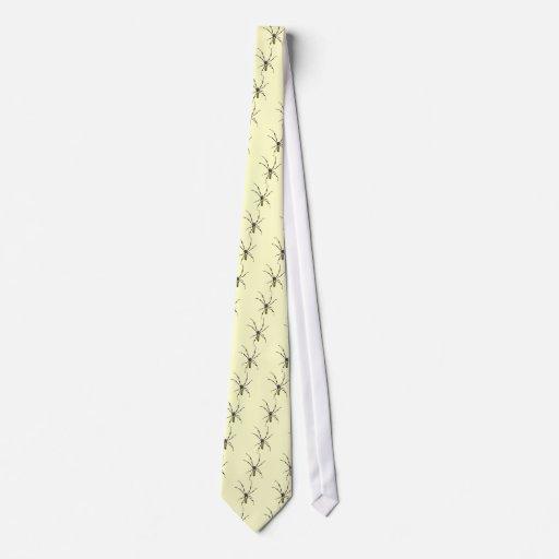 Araña de oro del orbe corbatas personalizadas