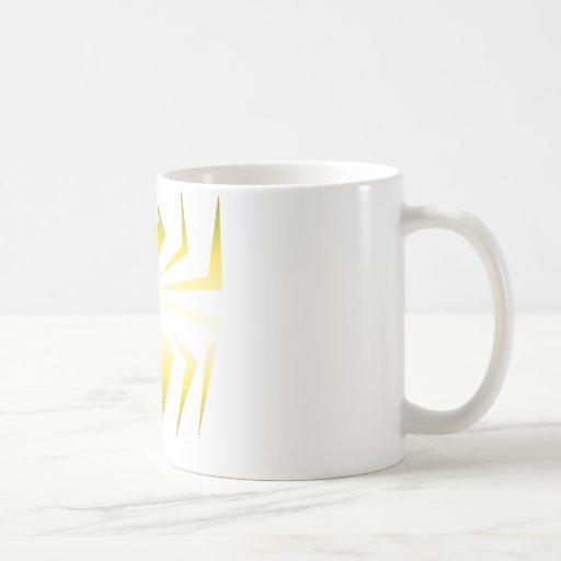 Araña de oro taza básica blanca
