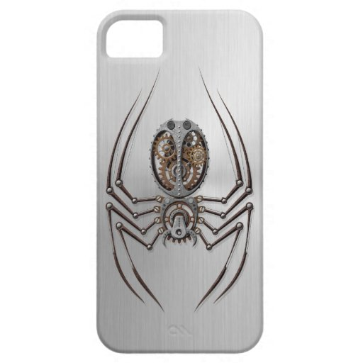 Araña de Steampunk con efecto del acero inoxidable iPhone 5 Case-Mate Cárcasa
