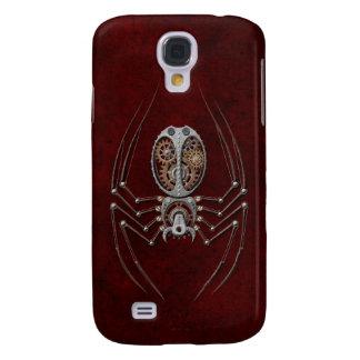 Araña de Steampunk en de color rojo oscuro