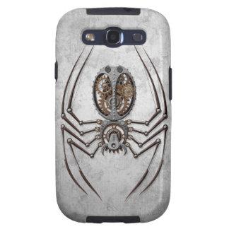 Araña de Steampunk en el acero áspero Galaxy S3 Cárcasas