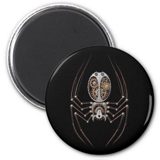 Araña de Steampunk en negro Imanes De Nevera