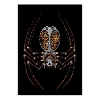 Araña de Steampunk, fondo negro Tarjetas De Visita Grandes