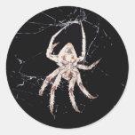araña del art déco etiquetas redondas