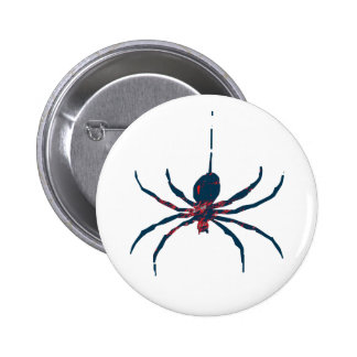 Araña del arte pop pin redondo de 2 pulgadas