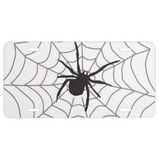 Araña del bicho placa de matrícula