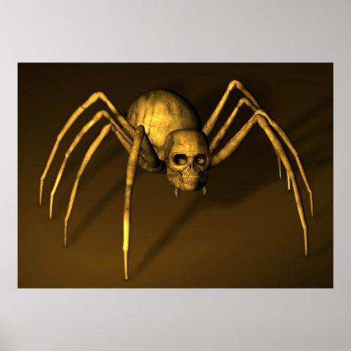 Araña del Bonehead Posters