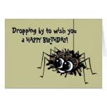 Araña del feliz cumpleaños tarjetas