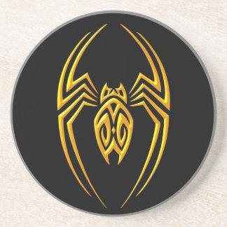 Araña del hierro - amarillo y negro posavasos para bebidas