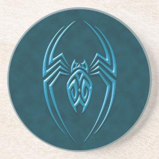 Araña del hierro - azul posavasos diseño