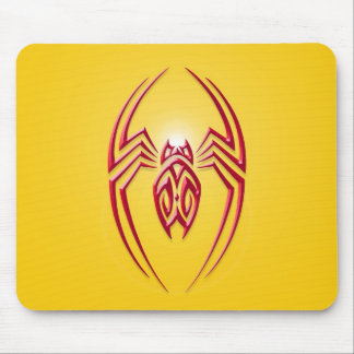 Araña del hierro - rojo y amarillo tapete de raton
