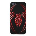 Araña del hierro - rojo y negro iPhone 5 coberturas