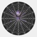Araña del KRW en el pegatina de Halloween del Web