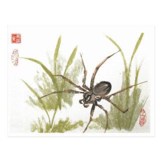Araña del Recluse de Brown en blanco Tarjetas Postales